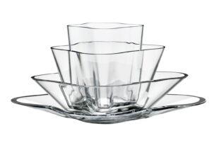 Iittala Alvar Aalto Bloem - 180 x 360 mm - Helder - 4-delig