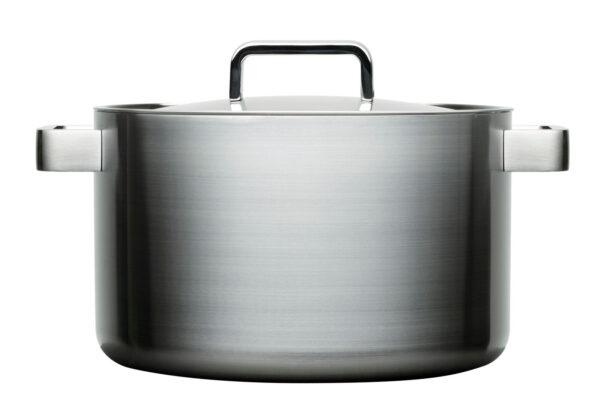 Iittala Tools Kookpan met deksel - 8 l - Geborsteld roestvrij staal