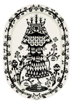 Iittala Taika Serveerbord ovaal - 41 cm - Zwart
